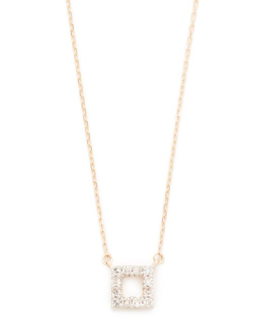 Adina Reyter | Metallic Super Tiny Pave Square Necklace | Lyst