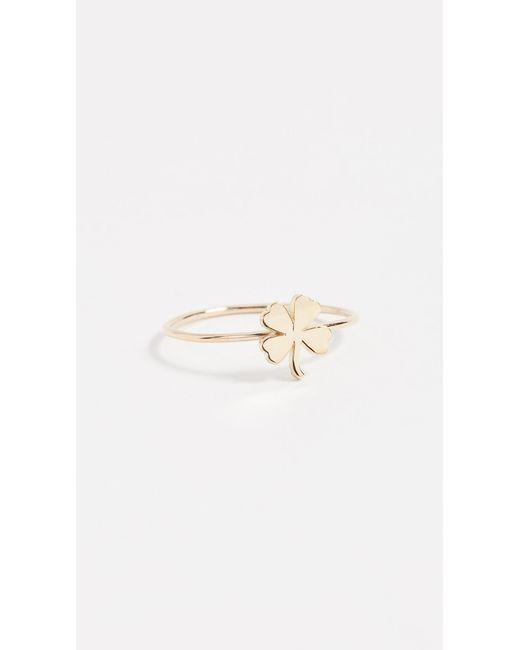 Jennifer Meyer - Metallic Mini Clover Ring - Lyst