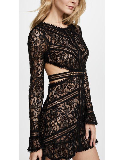 ae008a57bb44d ... Lyst For Love & Lemons - Black Emerie Cutout Dress ...