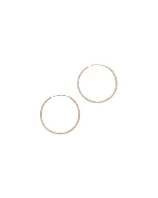 Shashi - Metallic Plain Hoop Earrings - Lyst