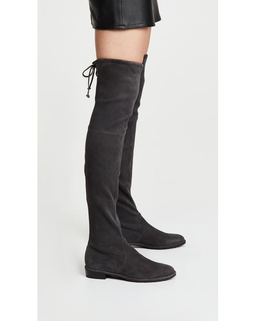 1af2a11c84c ... Stuart Weitzman - Black Lowland Over The Knee Boots - Lyst ...