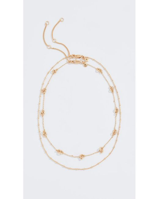 Madewell - Metallic Knotted Layered Necklace - Lyst