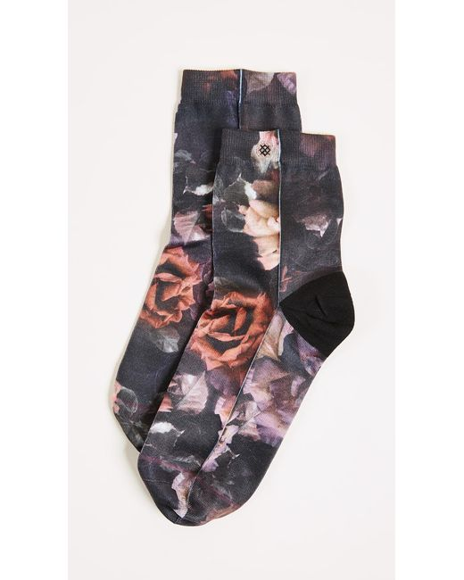 Stance   Black Dark Blooms Anklet Socks   Lyst