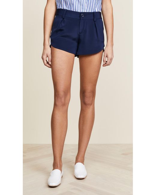 Alice + Olivia - Blue Butterfly Shorts - Lyst