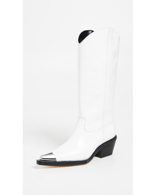 Helmut Lang - White Tall Cowboy Boots - Lyst