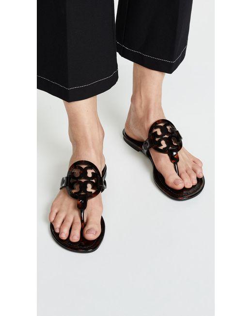 d821d5e0fbd619 ... Tory Burch - Black Miller Thong Sandals - Lyst ...