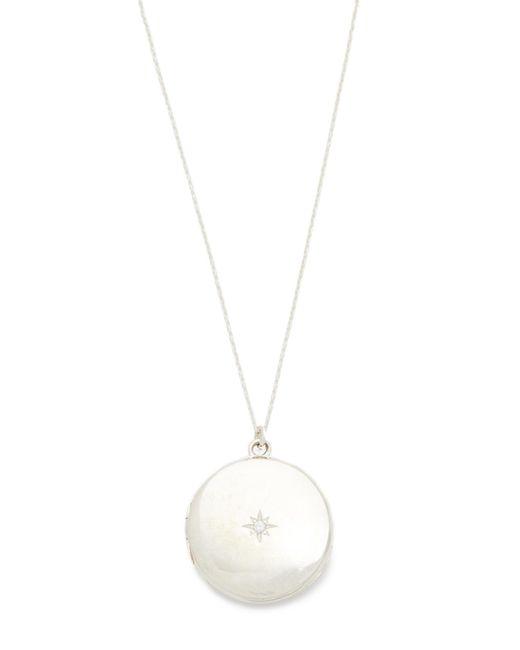 Sasha Samuel - Metallic Single Star Round Locket Necklace - Lyst