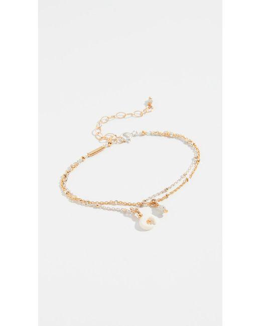 Chan Luu - Multicolor Mix Layered Horn Charm Bracelet - Lyst