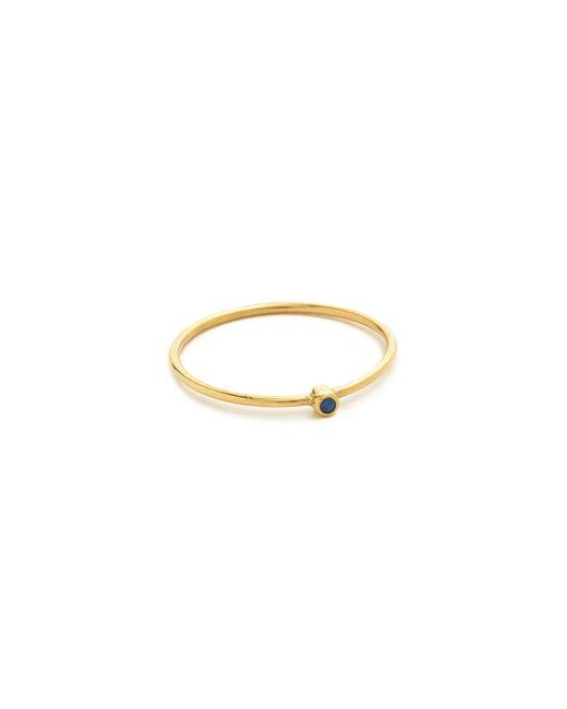 Jennifer Meyer | Blue Thin Ring With Sapphire | Lyst