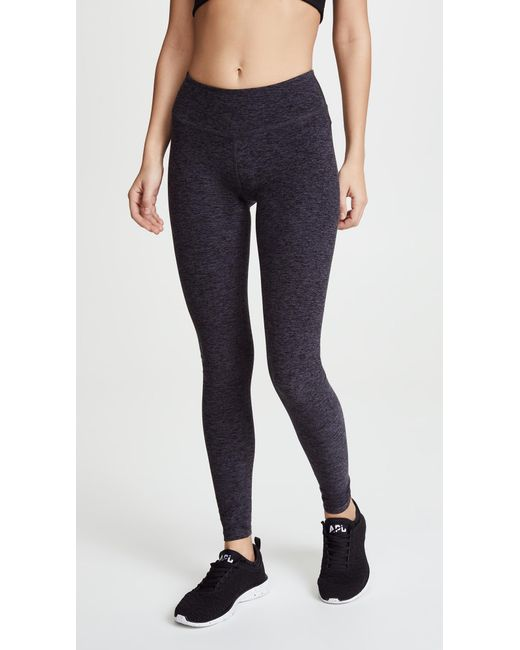 Beyond Yoga - Black Space Dye Performance Maternity Long Leggings - Lyst
