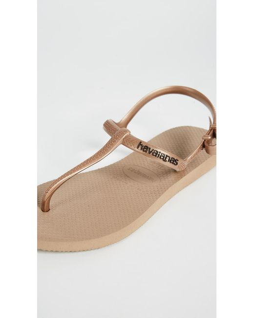 9c47ea3a0d75eb ... Havaianas - Multicolor Freedom T Strap Sandals - Lyst ...