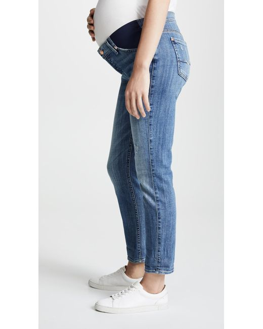 bf7e688ede514 ... 7 For All Mankind - Blue Josefina Maternity Jeans - Lyst ...