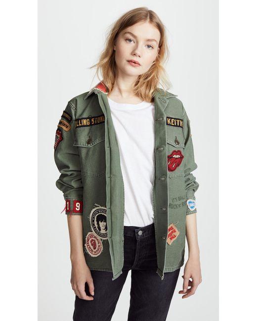 Madeworn Rock - Green Rolling Stones 1975 Army Jacket - Lyst