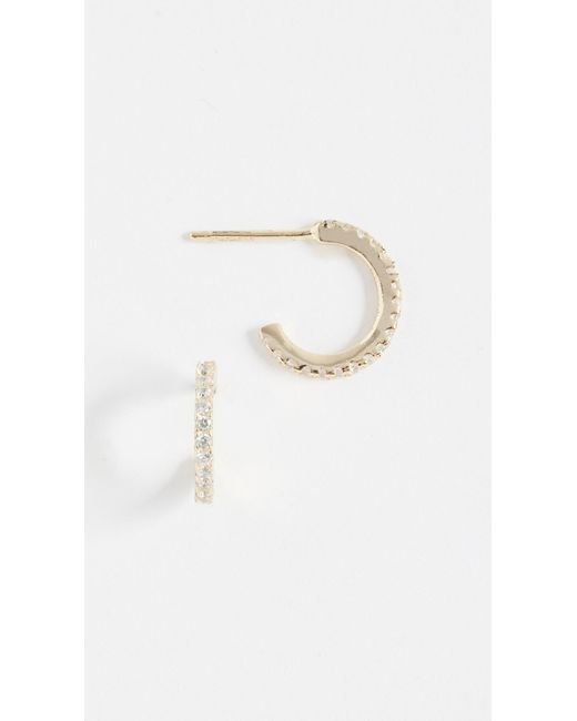 Shashi - Metallic Mini Hoop Earrings - Lyst
