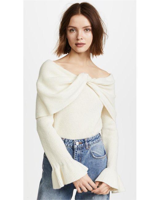 Ella Moss | Natural Jasinda Sweater | Lyst