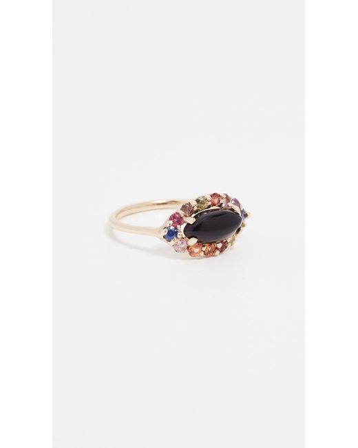 Eden Presley - Metallic 14k Gold Onyx & Rainbow Ring - Lyst