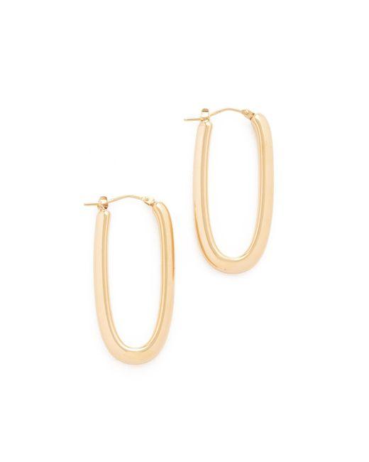 Soave Oro   Metallic Mariana Hoop Earrings   Lyst