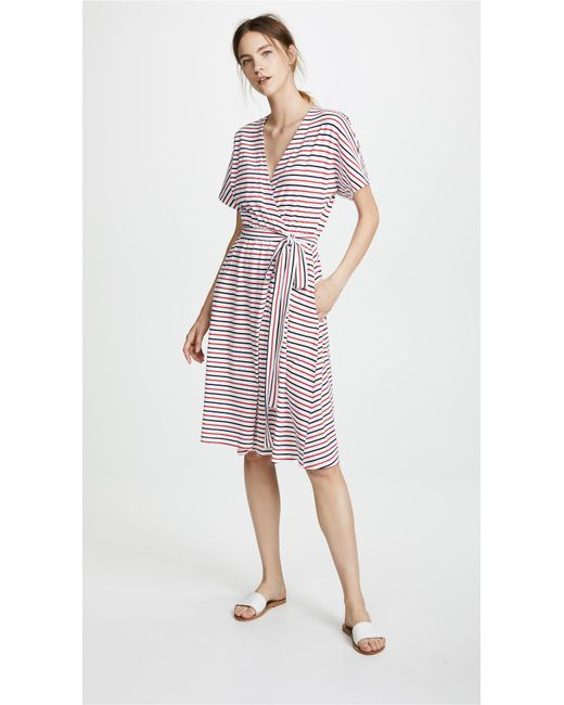 Mds Stripes - Multicolor Rose Wrap Dress - Lyst