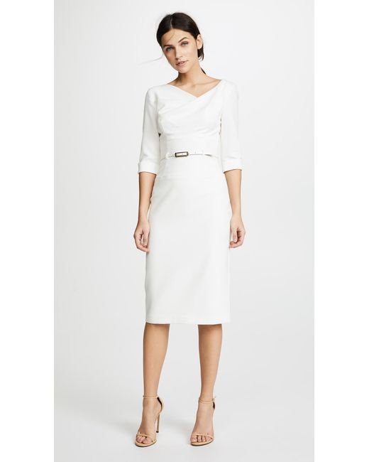 6acf15c9335 Black Halo 3 4 Sleeve Jackie O Dress in White - Save 8% - Lyst