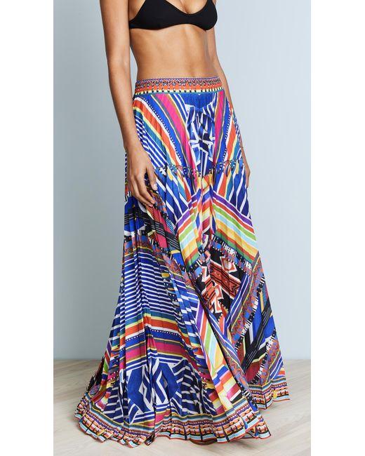 Camilla - Blue Tsachila Blessing Pleated Skirt - Lyst