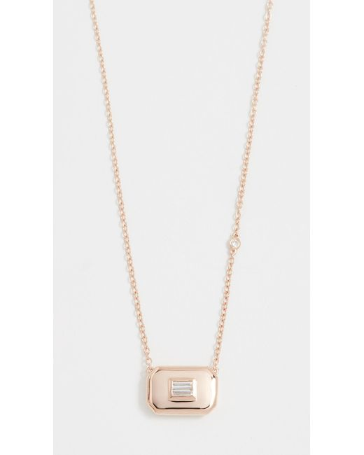 SHAY - White 18k Essential Baguette Diamond Necklace - Lyst
