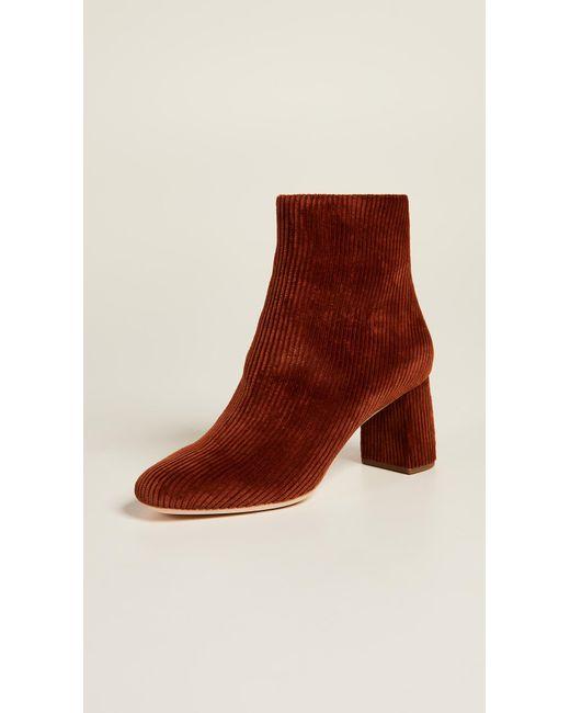 c514737b3c0b Lyst - Loeffler Randall Copper Corduroy Ankle Boot in Brown - Save 65%