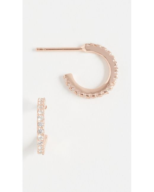 Shashi - Pink Mini Hoop Earrings - Lyst