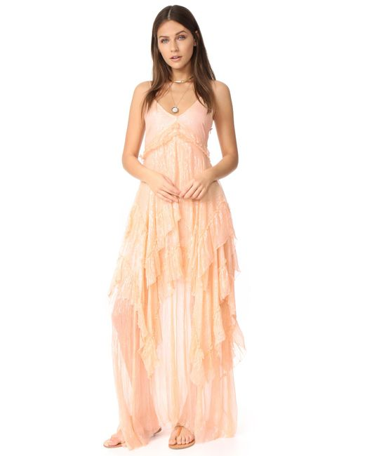 Free People | Pink Midnight Rendezvous Maxi Dress | Lyst