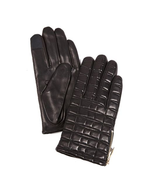 Kate Spade | Black Bow Quilted Tech Gloves | Lyst