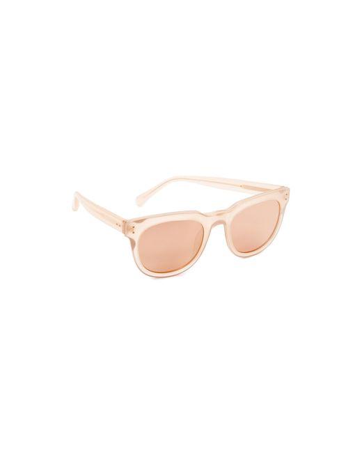 Linda Farrow | Pink Classic Stud Sunglasses | Lyst