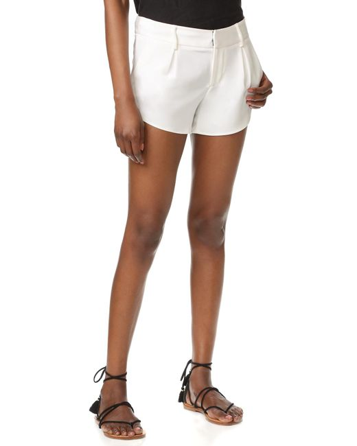 Alice + Olivia | White Butterfly Shorts | Lyst