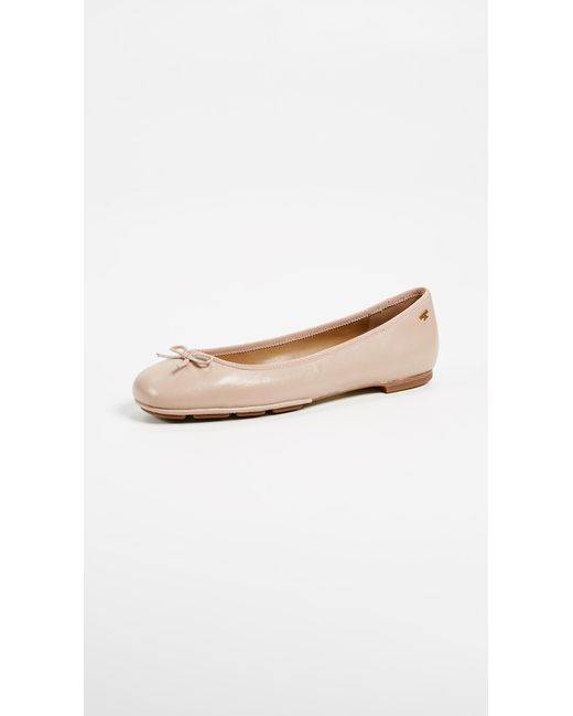 Tory Burch - Natural Laila 2 Driver Ballet Flats - Lyst ...