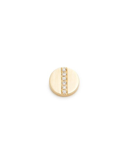 EF Collection | Metallic Diamond Screw Single Stud Earring | Lyst