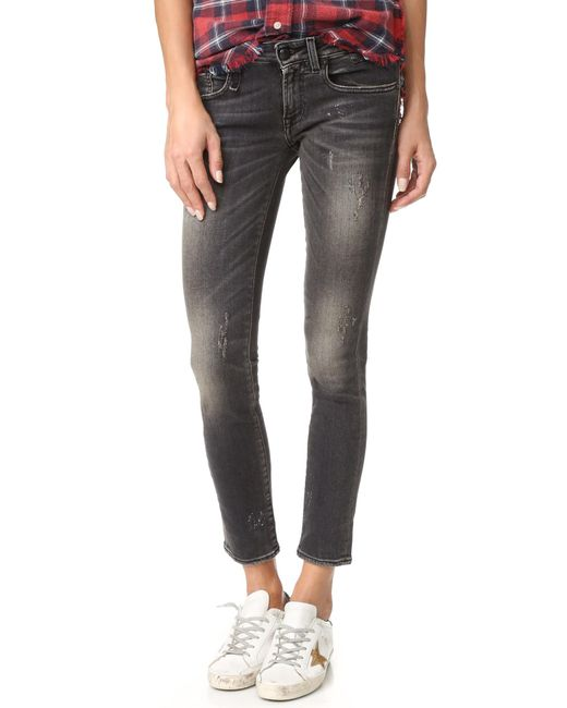 R13 - Black The Kate Skinny Jeans - Lyst