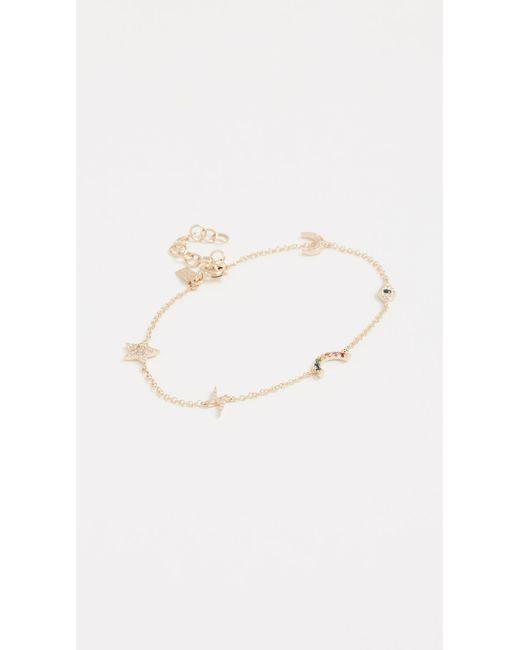 EF Collection - Metallic 14k Gold Diamond Cosmic Charm Bracelet - Lyst