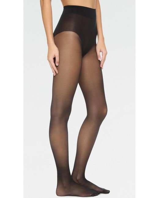 Wolford - Black Seamless Pure 10 Tights - Lyst