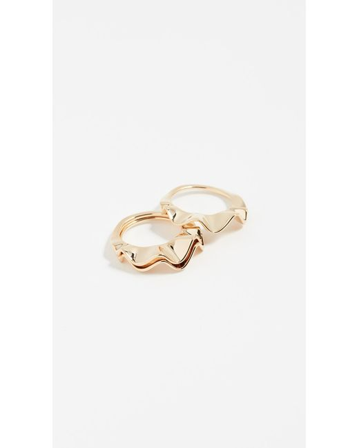 Kate Spade - Metallic Frilled To Pieces Stackable Rings - Lyst