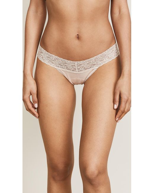 Hanky Panky - Natural Cotton With A Conscience Petite Low Rise Thong - Black - Lyst