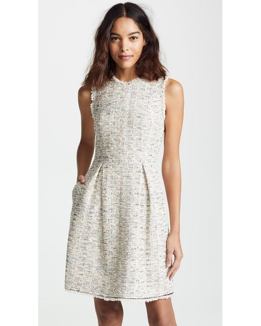 4459f170b71207 Rebecca Taylor - Multicolor Sleeveless Rainbow Tweed Dress - Lyst ...
