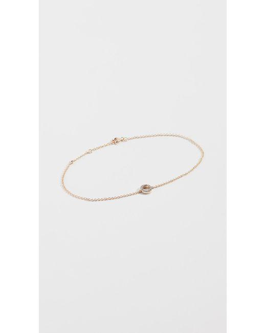 Mateo - Metallic 14k Mini Diamond Circle Bracelet - Lyst