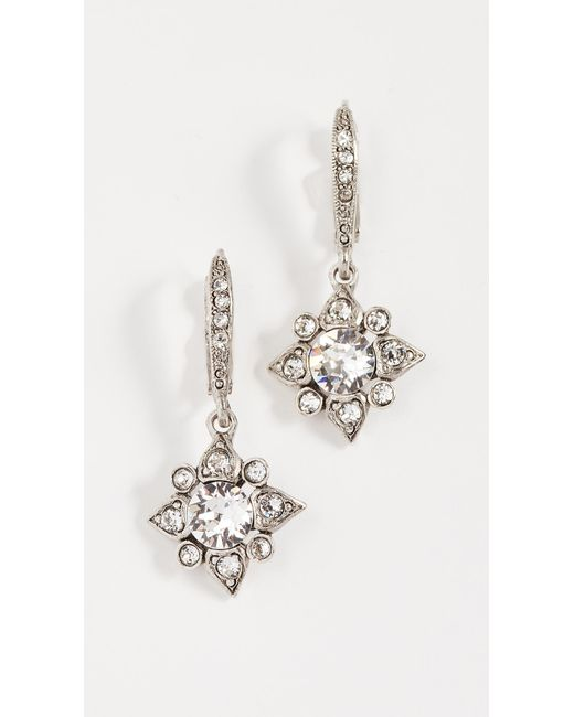 Oscar de la Renta - Metallic Delicate Star Earrings - Lyst