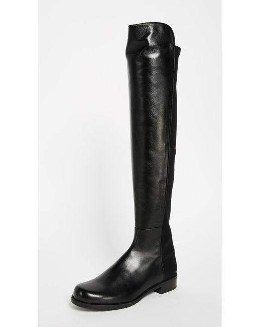 Stuart Weitzman - Black '5050' Boots - Lyst