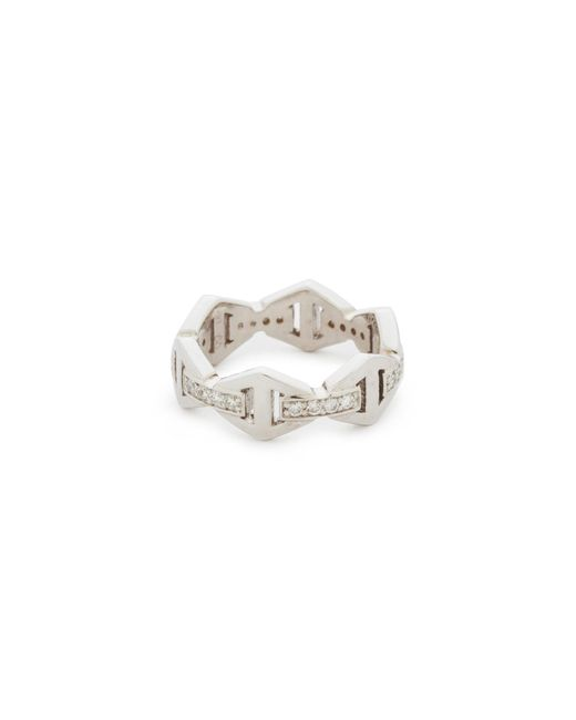 Walters Faith | Metallic Keynes Diamond Hexagon Stackable Ring | Lyst