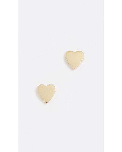 Jennifer Meyer | Metallic Heart Stud Earrings | Lyst