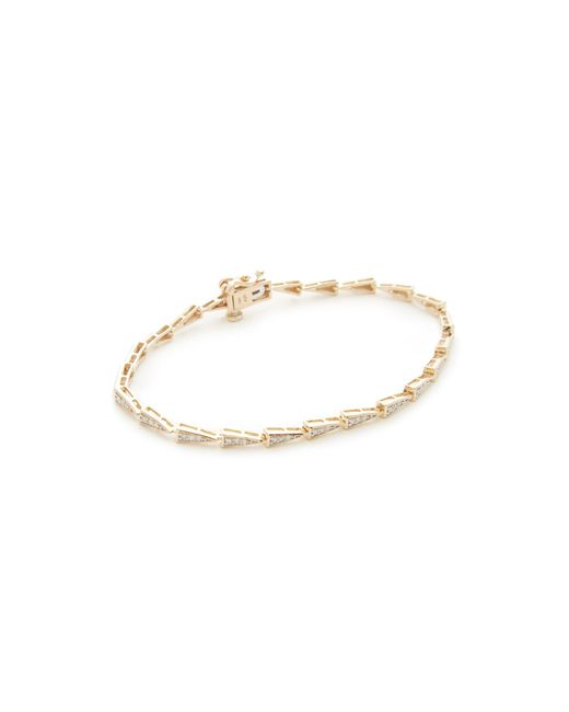Adina Reyter   Metallic 14k Gold Pave Triangle Tennis Bracelet   Lyst