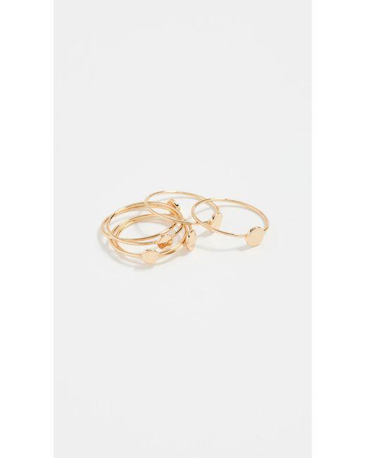 Gorjana - Metallic Chloe Mixed Stacking Ring Set - Lyst