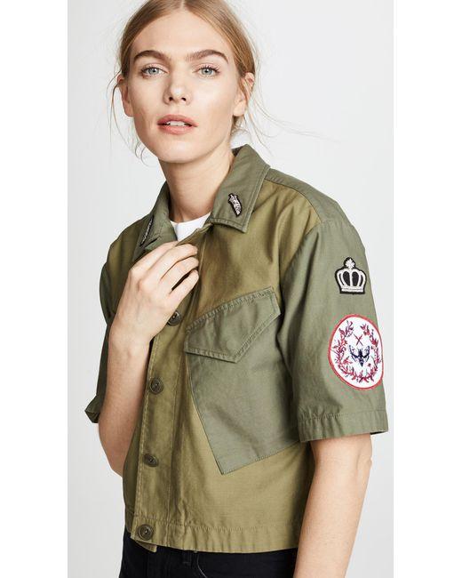 Rag & Bone - Green Baldwin Shirt Jacket - Lyst