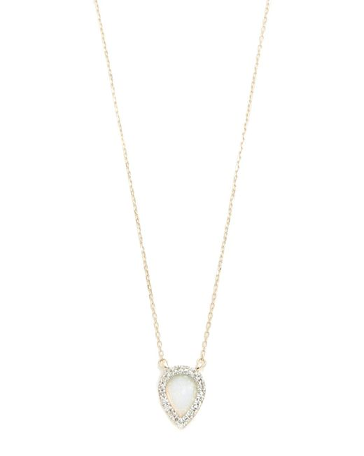Adina Reyter - Metallic Small Opal & Diamond Teardrop Pendant Necklace - Lyst