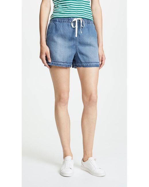 Splendid - Blue Indigo Shorts - Lyst
