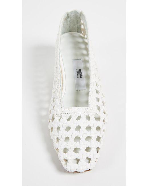432efa0837 ... Miista - White Taissa Block Heel Pumps - Lyst ...